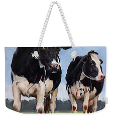 Watchful Cows Mini Painting  Weekender Tote Bag