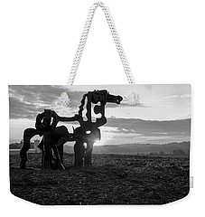 Watchful The Iron Horse  Weekender Tote Bag by Reid Callaway