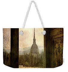 Watching Antonelliana Tower From The Window Weekender Tote Bag