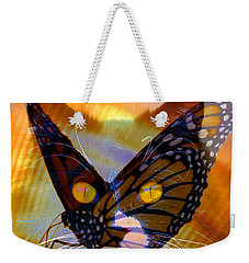 Weekender Tote Bag featuring the photograph Watching Butterlies by David Lee Thompson