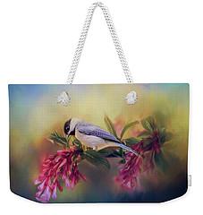 Watching Flowers Bloom Bird Art Weekender Tote Bag