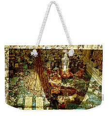 Watching Weekender Tote Bag by Michael Cinnamond