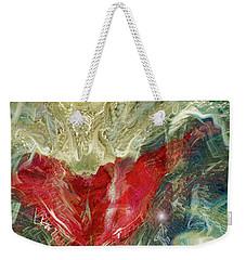 Weekender Tote Bag featuring the digital art Watching Over  by Linda Sannuti