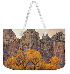 Weekender Tote Bag featuring the photograph Watching Over Zion  by Dustin LeFevre