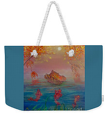 Watching The Dance Of The Fallen Elements Weekender Tote Bag