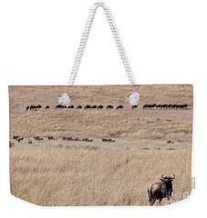 Watching The Herd Weekender Tote Bag