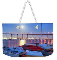 Watching The Moon Rise Weekender Tote Bag