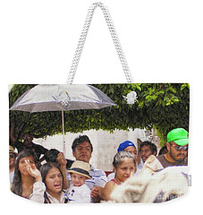 Weekender Tote Bag featuring the photograph Watching The Parade by John Kolenberg