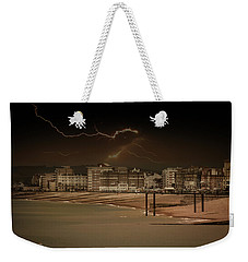 Weekender Tote Bag featuring the photograph Watching The Storm by Ryan Photography