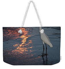 Weekender Tote Bag featuring the photograph Watching The Sunset by Melissa Lane