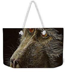 Weekender Tote Bag featuring the drawing Watching You by Heidi Kriel