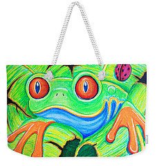 Watching You Red Eyed Tree Frog Weekender Tote Bag