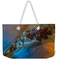 Weekender Tote Bag featuring the photograph Water A Leaf by Dustin LeFevre