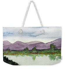 Water And Distant Hills Weekender Tote Bag by R Kyllo