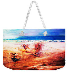 Weekender Tote Bag featuring the painting Water And Earth by Winsome Gunning