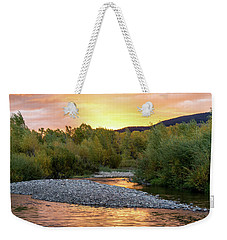 Water And Sky Weekender Tote Bag by Mary Hone