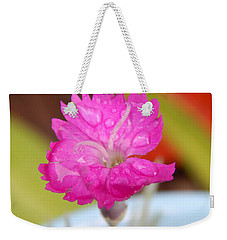 Water Bug Flower Weekender Tote Bag by Samantha Thome
