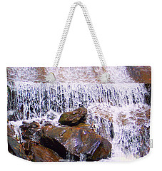 Weekender Tote Bag featuring the photograph Water Cascade by Roberta Byram
