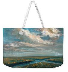 Water Cross Weekender Tote Bag by Randy Burns