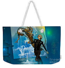 Weekender Tote Bag featuring the digital art Water Dragon by Shadowlea Is