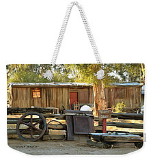 Weekender Tote Bag featuring the photograph Water Draw At Hotel Nipton California By Floyd Snyder by Floyd Snyder