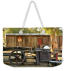Weekender Tote Bag featuring the photograph Water Draw At Hotel Nipton California Detail by Floyd Snyder