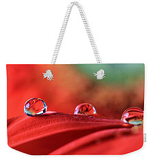 Water Drop Reflections Weekender Tote Bag by Angela Murdock