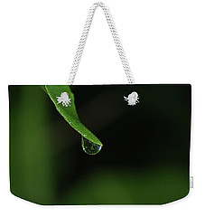 Weekender Tote Bag featuring the photograph Water Drop by Richard Rizzo