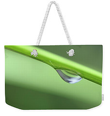 Weekender Tote Bag featuring the photograph Water Droplet II by Richard Rizzo