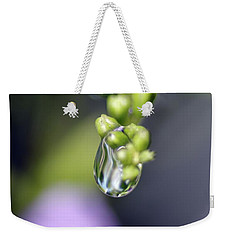Weekender Tote Bag featuring the photograph Water Droplet Iv by Richard Rizzo