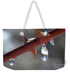 Water Droplets Weekender Tote Bag