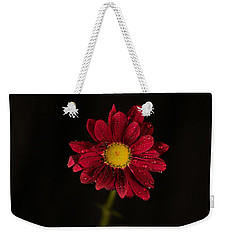 Weekender Tote Bag featuring the photograph Water Drops On A Flower by Jeff Swan