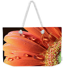 Water Drops On Colorful Flower Petals Weekender Tote Bag