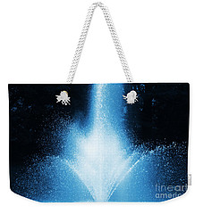 Weekender Tote Bag featuring the photograph Water Fountain In Blue by Smilin Eyes  Treasures