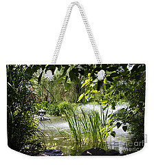 Weekender Tote Bag featuring the photograph Water Garden by Rebecca Davis