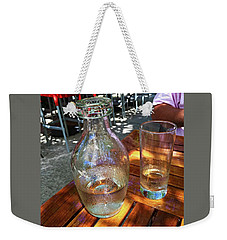 Weekender Tote Bag featuring the photograph Water Glass And Pitcher by Angela Annas