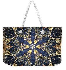 Weekender Tote Bag featuring the mixed media Water Glimmer 3 by Derek Gedney