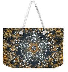 Weekender Tote Bag featuring the mixed media Water Glimmer 5 by Derek Gedney