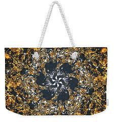 Weekender Tote Bag featuring the mixed media Water Glimmer 6 by Derek Gedney