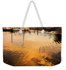Weekender Tote Bag featuring the photograph Water Into Gold by Ronda Broatch