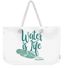 Water Is Life Nodapl Weekender Tote Bag by Heidi Hermes