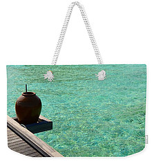 Weekender Tote Bag featuring the photograph Water Jar by Corinne Rhode