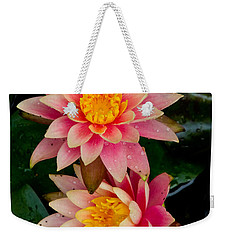 Weekender Tote Bag featuring the photograph Water Lilies by Brent L Ander