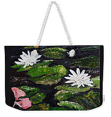 Water Lilies I Weekender Tote Bag by Marilyn Zalatan