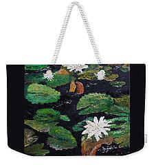 water lilies II Weekender Tote Bag by Marilyn Zalatan