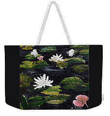 Water Lilies IIi Weekender Tote Bag by Marilyn Zalatan