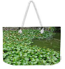 Water Lilies In The Moat Weekender Tote Bag