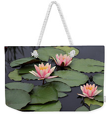 Weekender Tote Bag featuring the photograph Water Lilies by Jessica Jenney