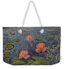 Water Lilies Lounge Weekender Tote Bag