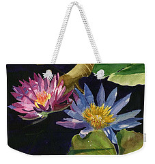 Water Lilies Weekender Tote Bag by Lynne Reichhart